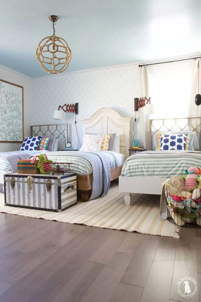 how to shiplap your ceilings - children's room
