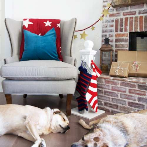 a holiday stocking post with home depot