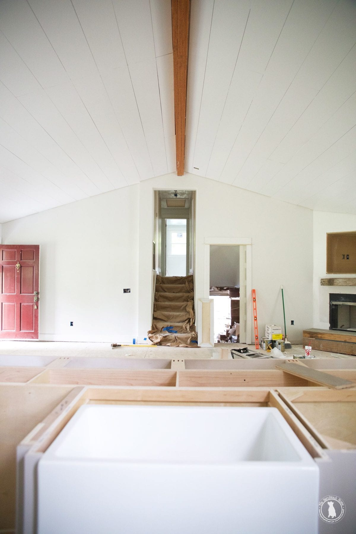 how to shiplap your ceilings - how to