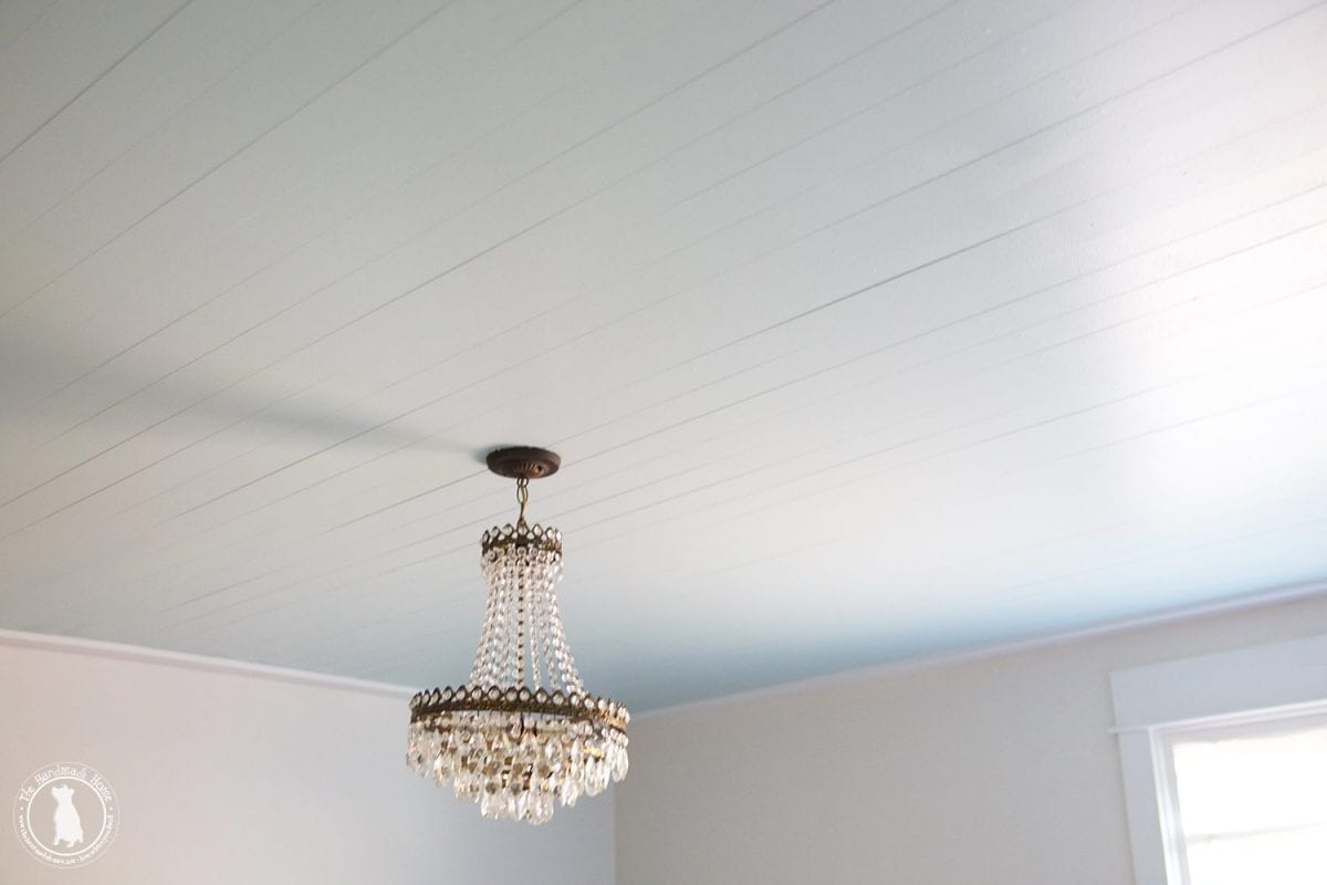 How To Shiplap Your Ceilings - The Handemade Home - Shiplap