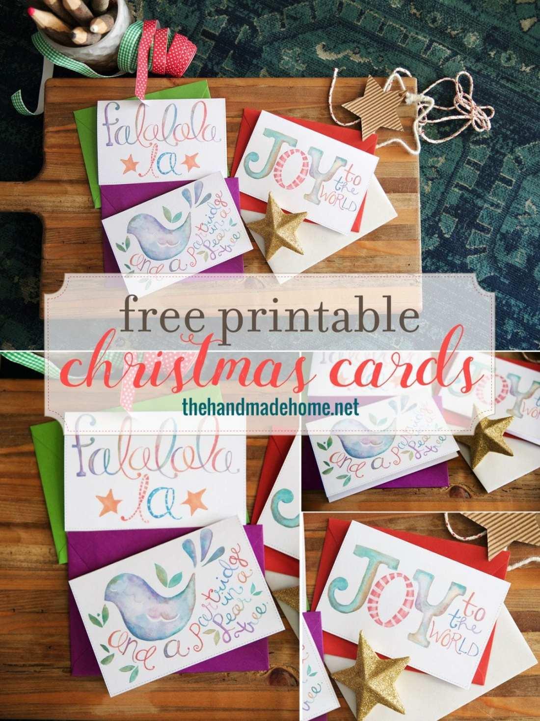 free christmas card printables