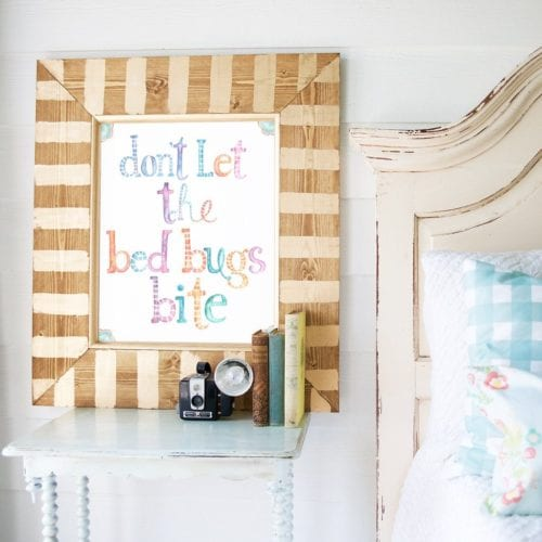 good night sleep tight + don't let the bedbugs bite – free printables