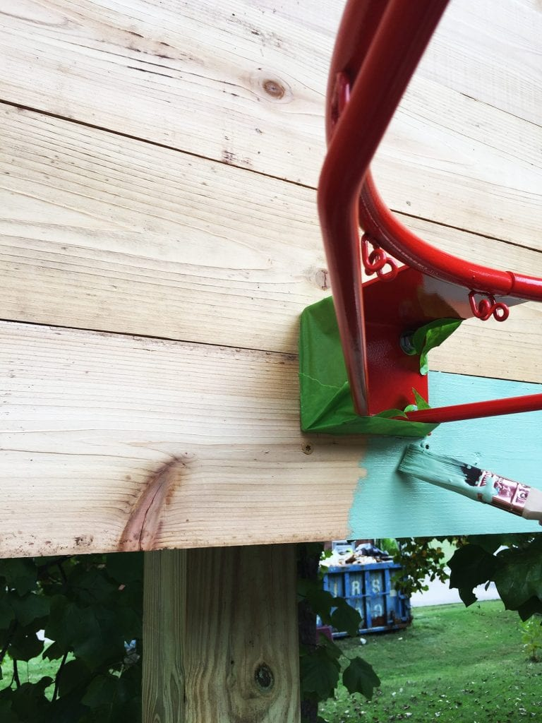 how to build a basketball goal - painting