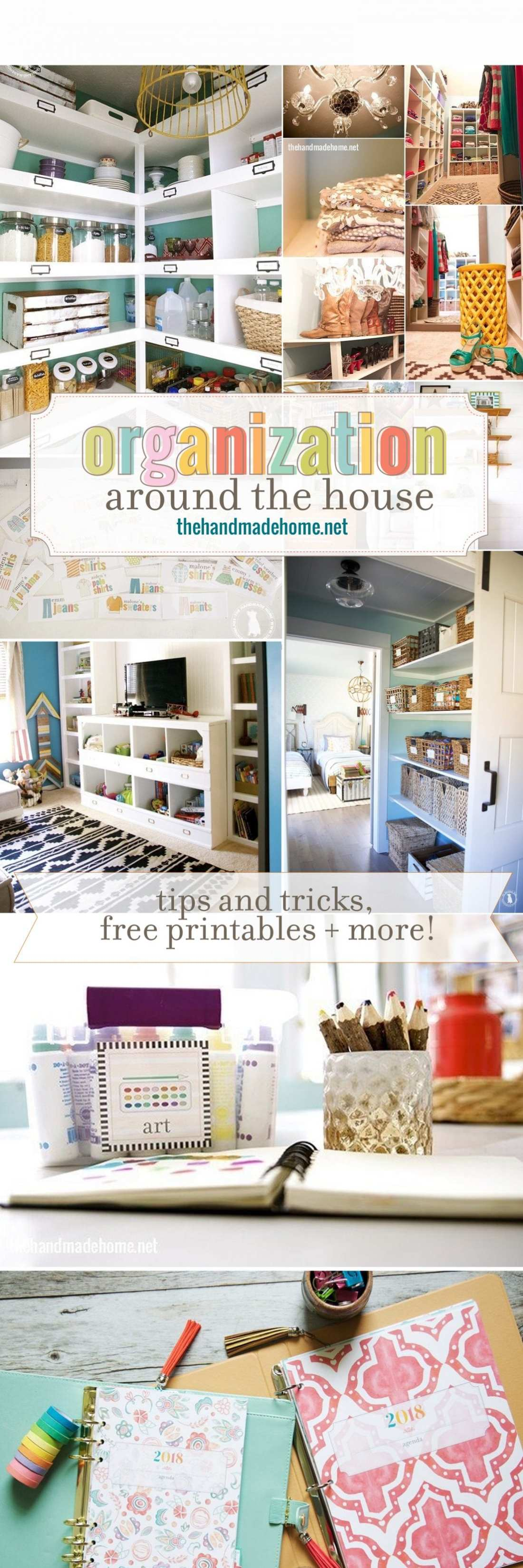 organization around the house - tips and tricks