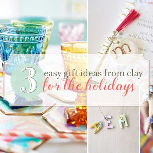 3 easy gift ideas with clay {and talk of the town!}