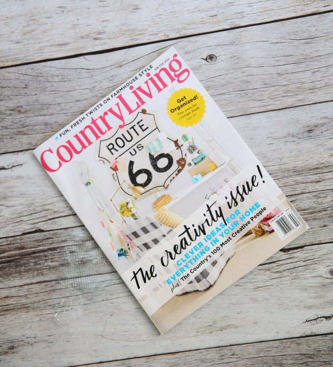 country living's creativity issue - magazine cover