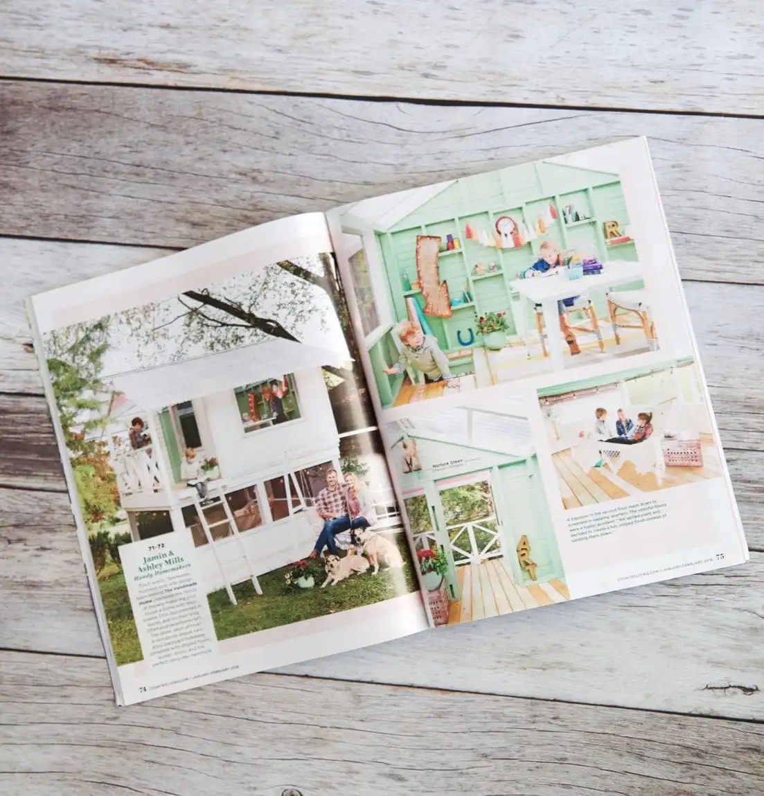 country living's creativity issue - inside article - The Handmade Home