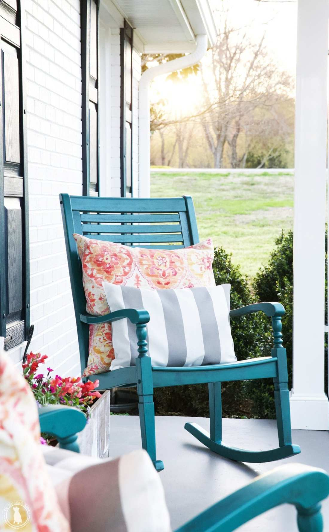 porch makeover chairs