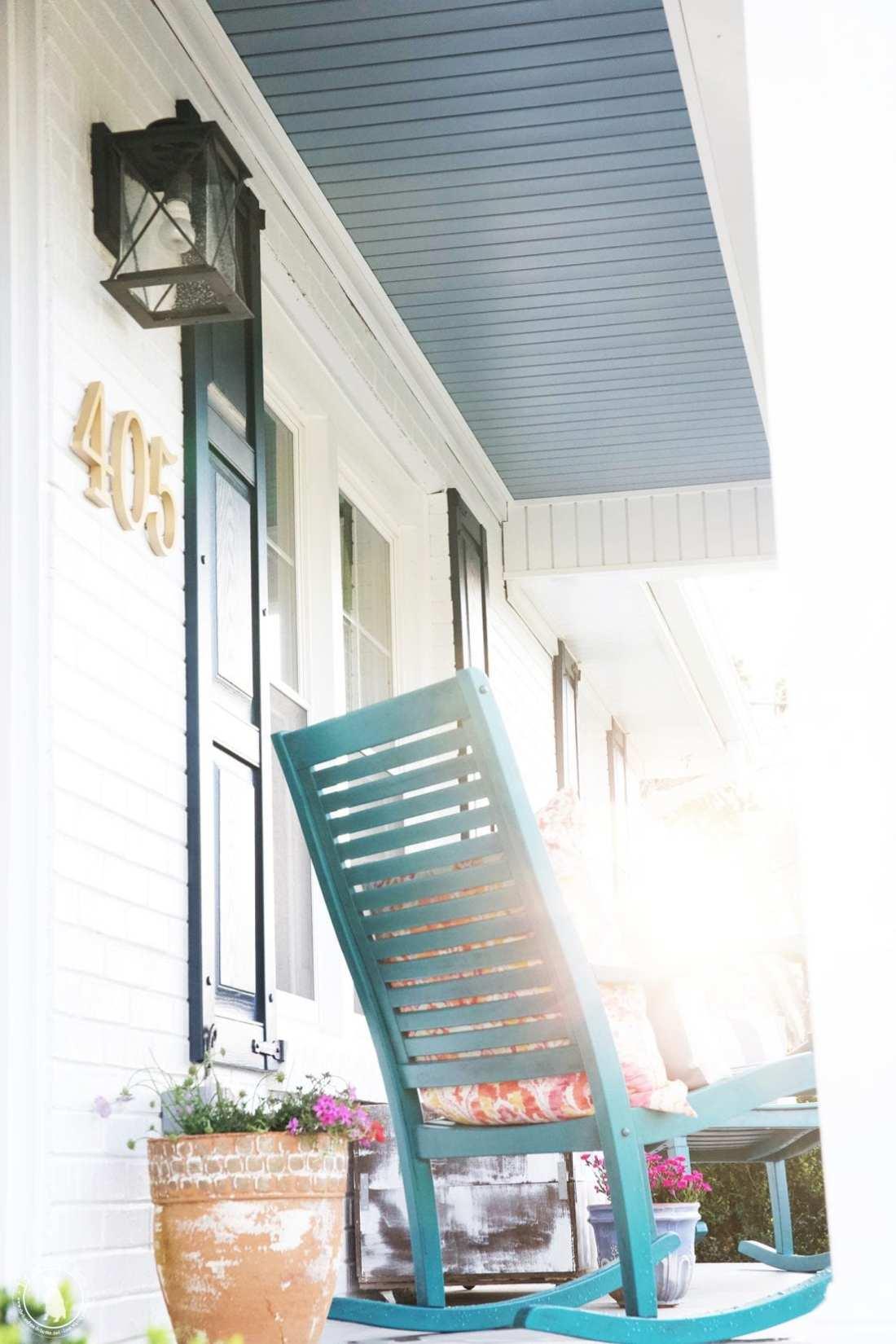 porch makeover lighting