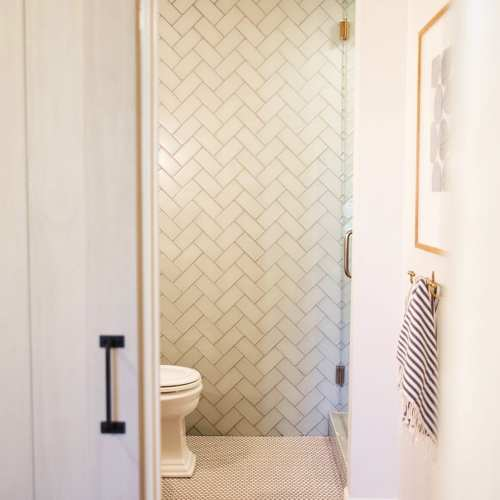 bathroom reveal with wayfair