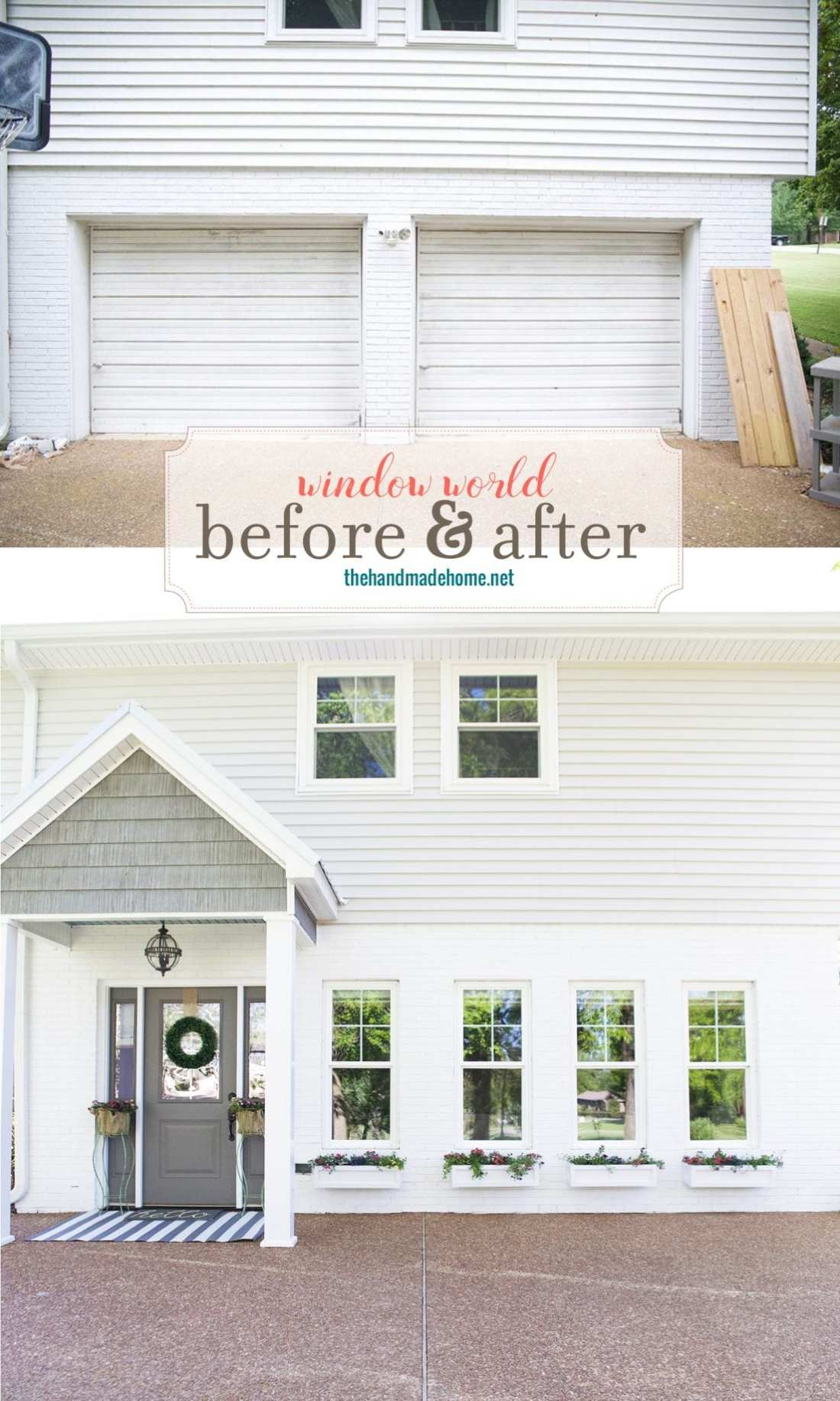 side entrance before and after