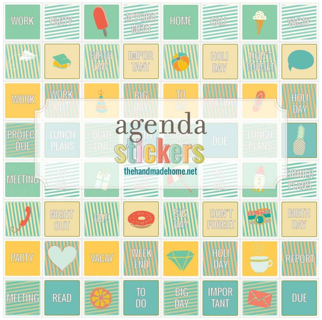 free planner - stickers