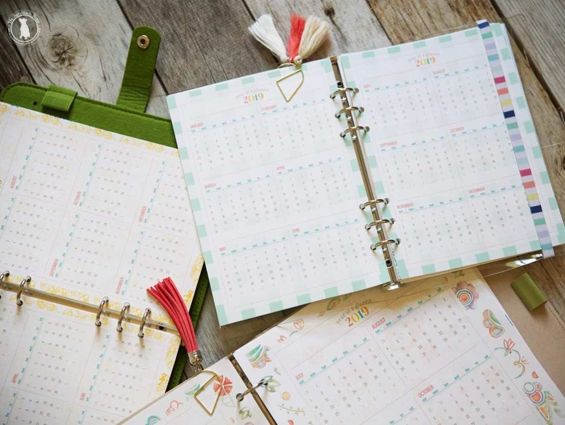 Free Planner 2019 - Over 350 Customizable free files - a