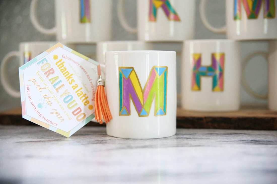 diy monogram coffee mug