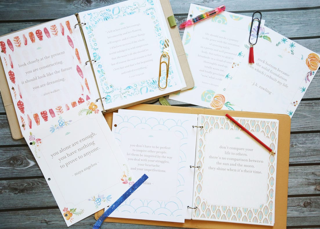planner quote pages