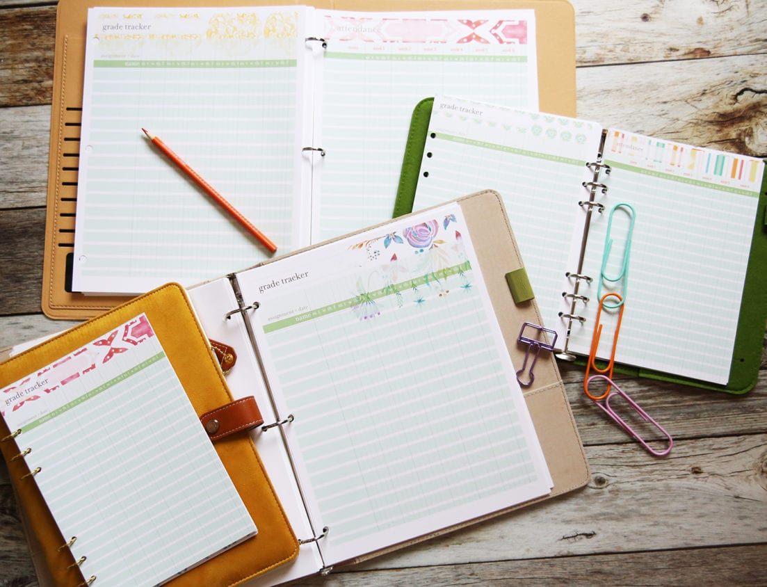 planner grade pages