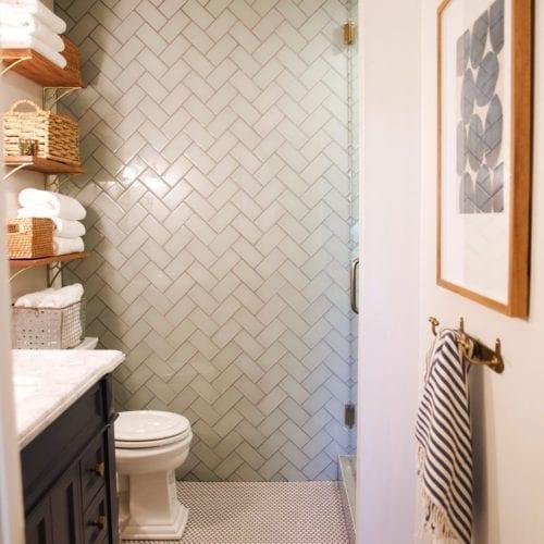 chevron  bathroom