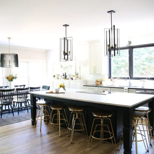 kitchen, dining and bar