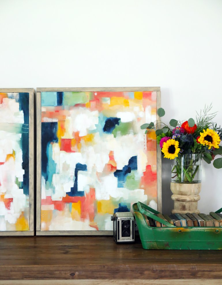 Diy Abstract Art Our Best Tips And A Freebie The Handmade Home