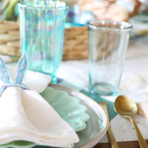 bunny ear napkin rings + a fun easter table!