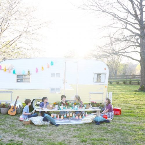 happy camper party {and free printables!}