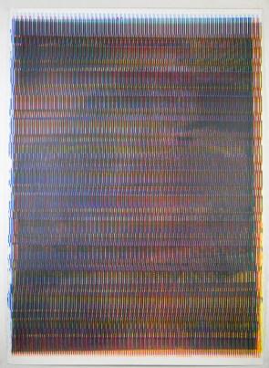 "BJ Alumbaugh, Static Variation (CMYK), Silkscreen on archival paper, 40""x 30"" http://www.bjalumbaugh.berta.me"