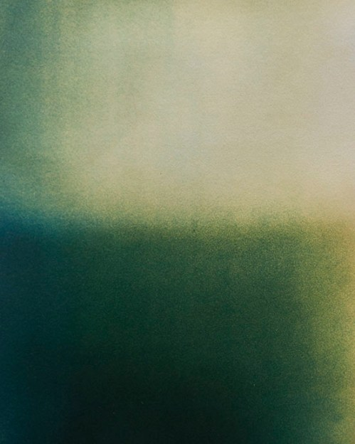 Harrison Walker (Rockport, ME) Study of Presence/ Absence III Cyanotype and gum bichromate