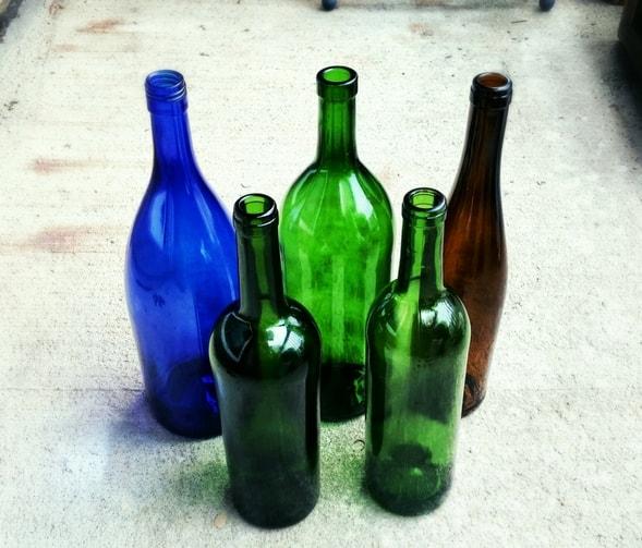 Wine Bottle Christmas Décor Centerpiece