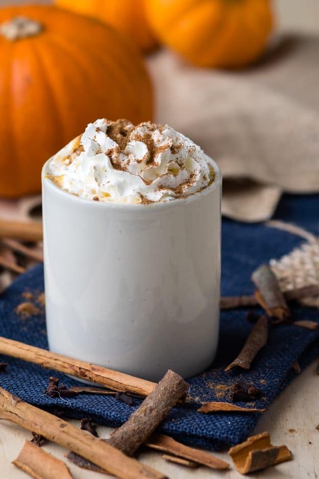 hot pumpkin spice drink