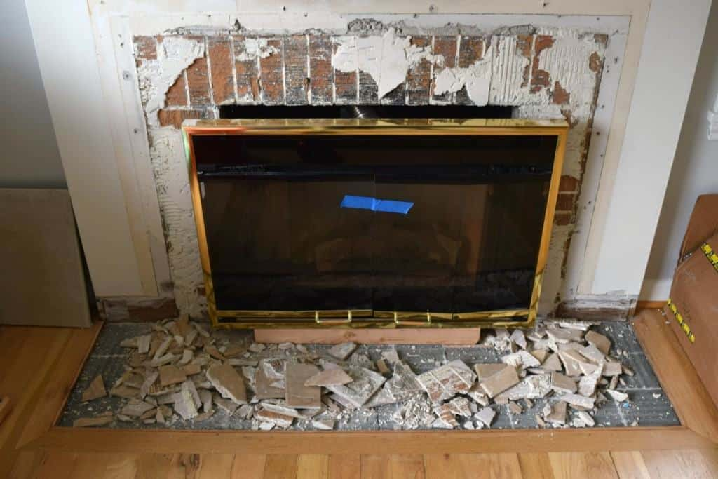 fireplace demolition day the