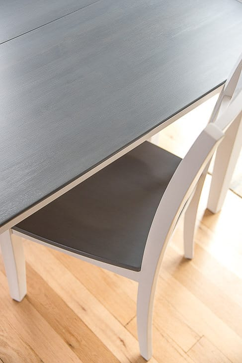 grey and white table and chair