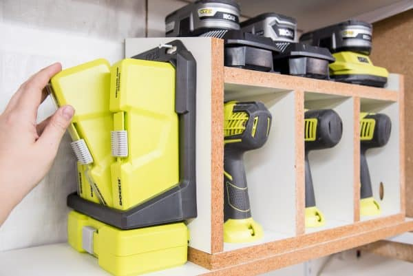 easy diy cordless drill storage rack