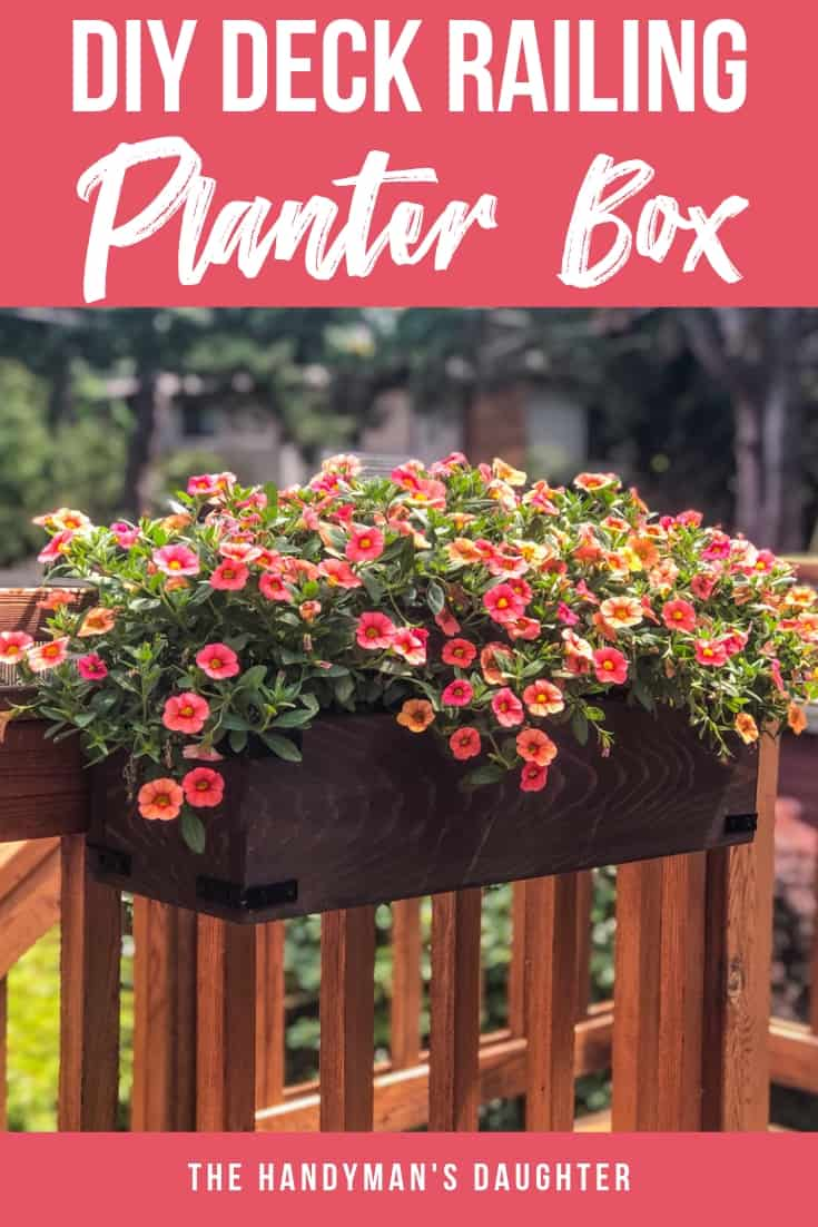 diy railing planters for your deck or