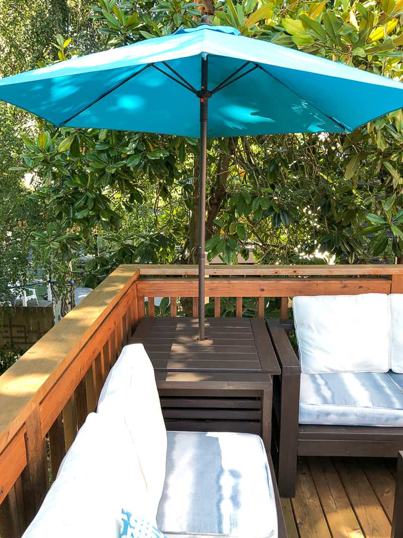 diy umbrella stand side table the