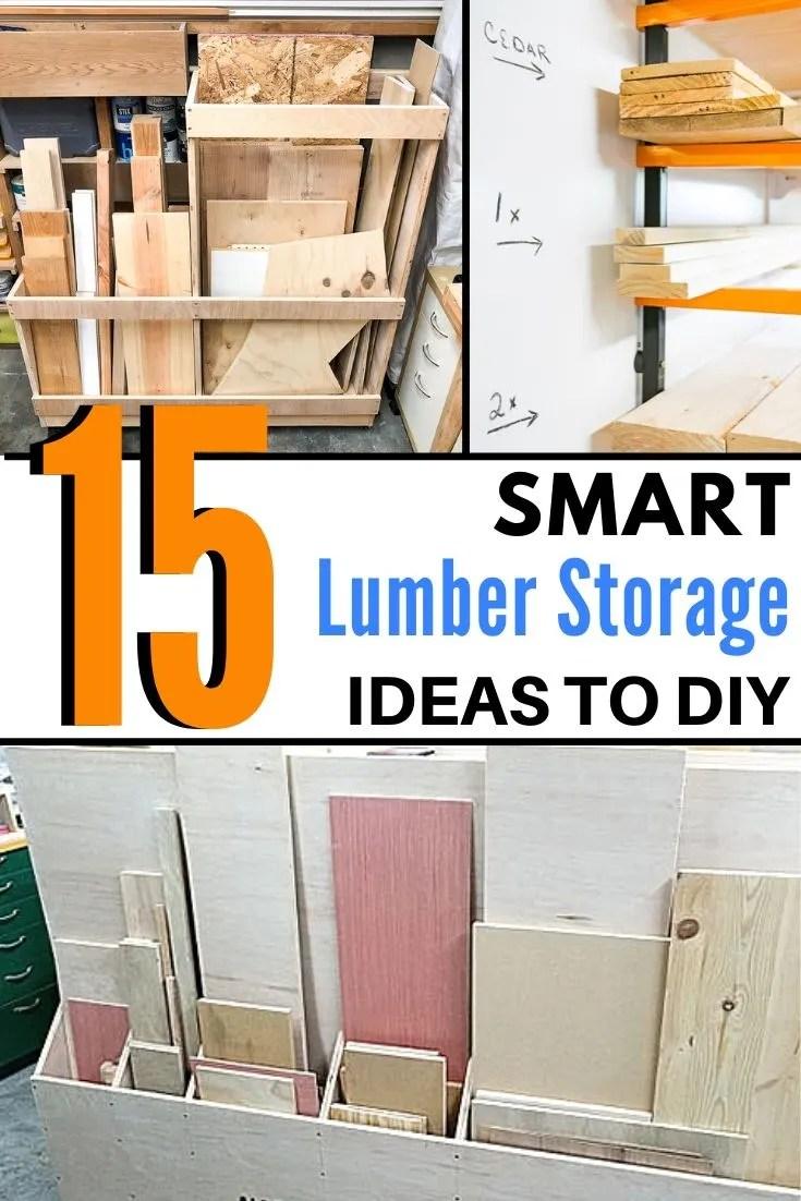 lumber and scrap wood storage ideas
