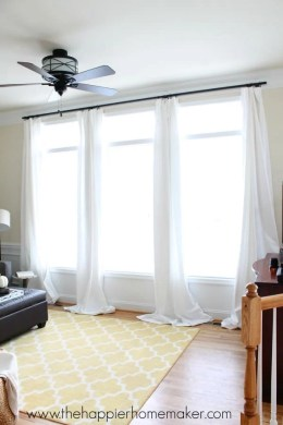How to Hang Curtains without Holes  Renter Friendly Window Treatments How to hang curtains without holes using command hooks great idea for  renters or students