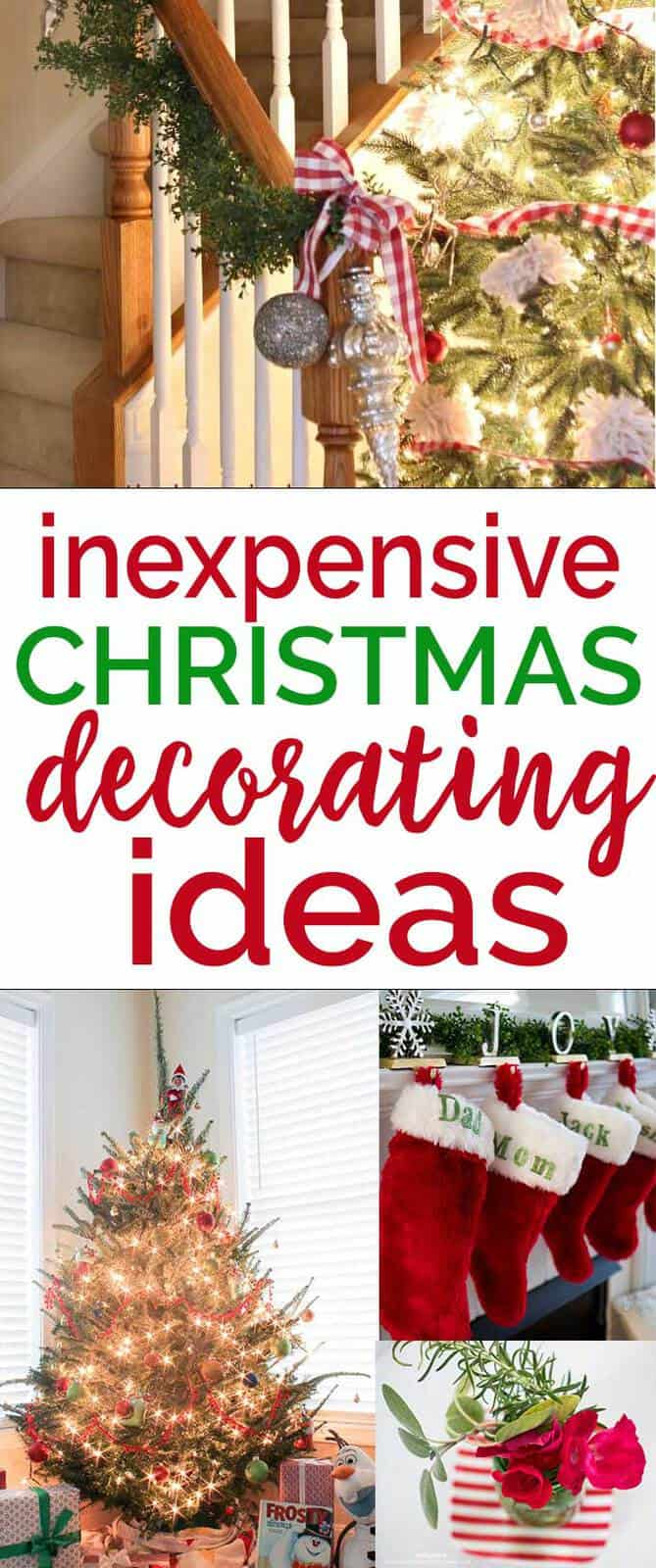 Inexpensive Christmas Decorating Ideas Holiday