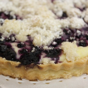 Blueberry Cream Cheese Flan