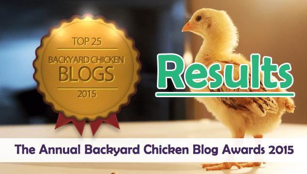 Results- Annual Backyard Chicken Blog Awards of 2015