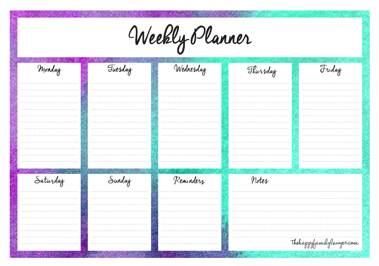 Download Your Free Weekly Planners Now 5 Designs To Choose From