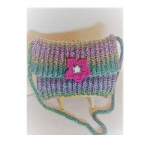 Hand made knitted bag - Meadow