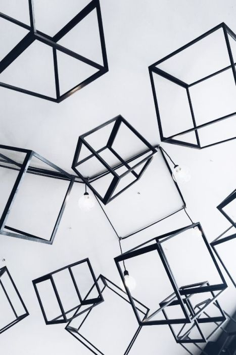 cubes on a wall