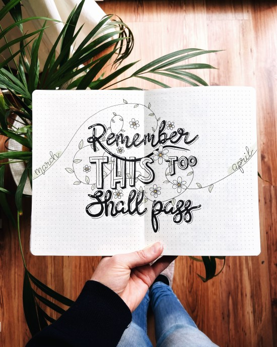 April 2020 cover page - Remember this too will pass