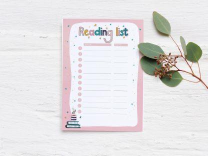 Reading List Planner Insert