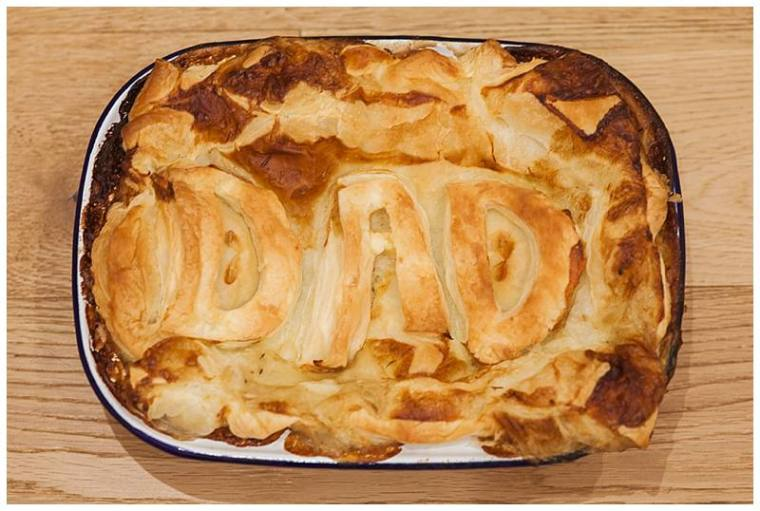 Fathers day pie with shortcuts