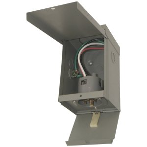 CONNECTICUT ELECTRIC  EGSPI50 50A Rainproof Generator Power Inlet Box with Cover at
