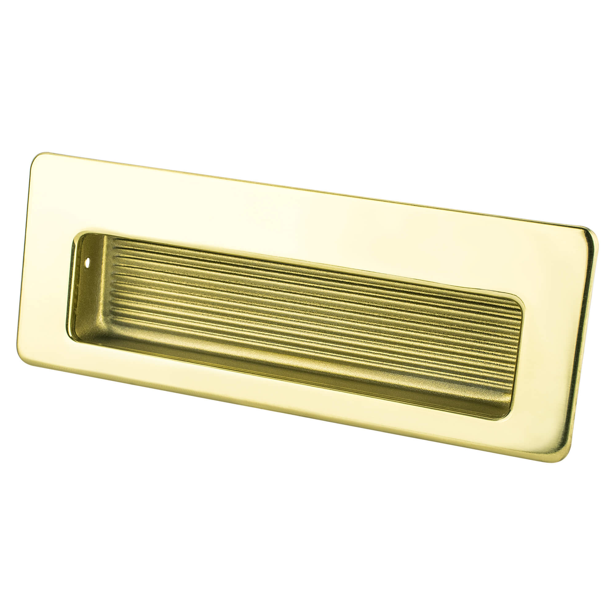 Berenson 6691 107 B Zurich 4 1 2 114mm Recessed Cabinet Pull Polished Gold The Hardware Hut
