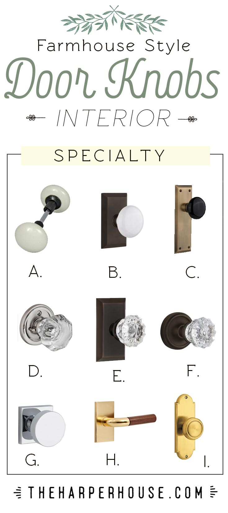 Modern Farmhouse Interior Door Knobs The Harper House