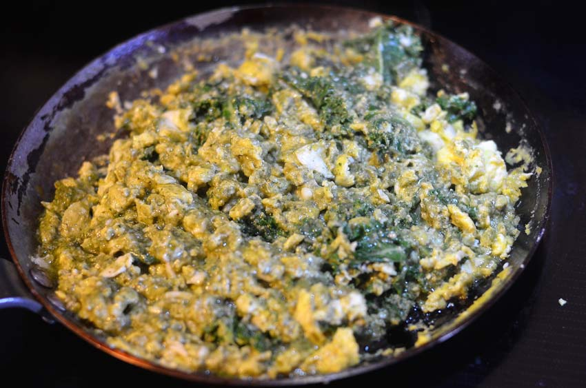 pesto scrambled eggs savory breakfast