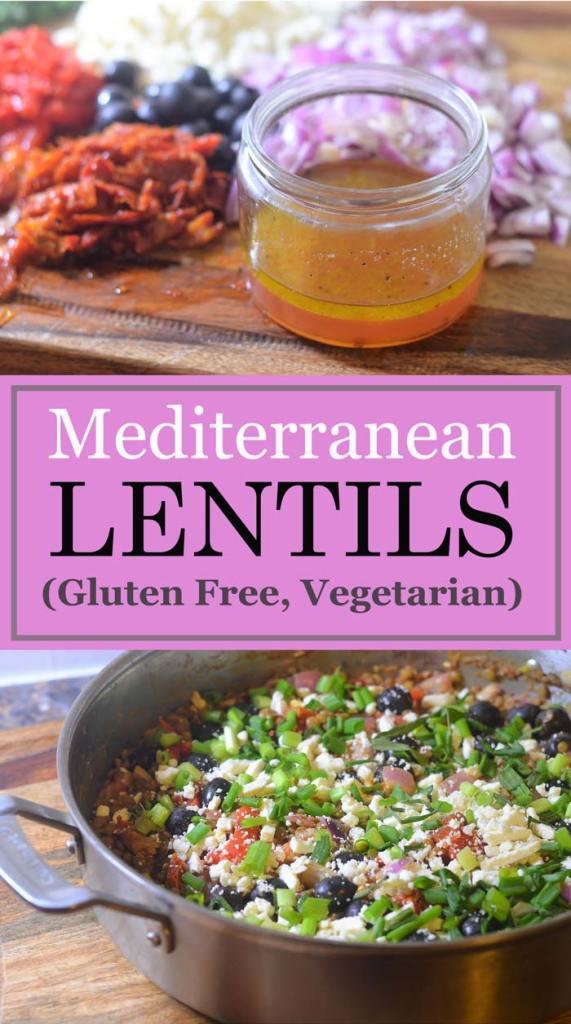 mediterranean lentils gluten free vegetarian